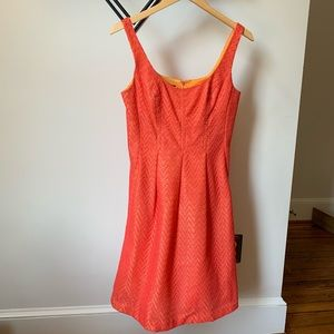 Nine West Neon Fit and Flare Dress